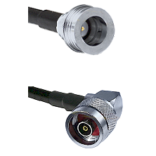 QN Male on RG58C/U to N Reverse Polarity Right Angle Male Cable Assembly