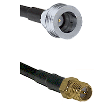QN Male on RG58C/U to SMA Reverse Polarity Female Cable Assembly