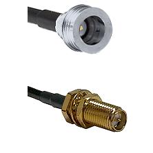 QN Male on RG58C/U to SMA Reverse Polarity Female Bulkhead Cable Assembly