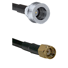 QN Male on RG58C/U to SMA Reverse Polarity Male Cable Assembly