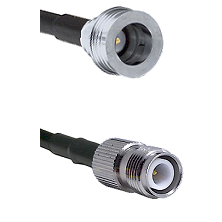 QN Male on RG58C/U to TNC Reverse Polarity Female Cable Assembly