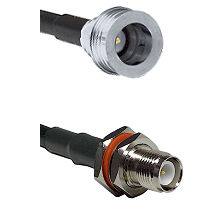 QN Male on RG58C/U to TNC Reverse Polarity Female Bulkhead Cable Assembly