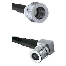 QN Male on RG58C/U to QMA Right Angle Male Cable Assembly