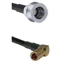 QN Male on RG58C/U to SLB Right Angle Female Cable Assembly