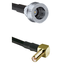 QN Male on RG58C/U to SLB Right Angle Male Cable Assembly