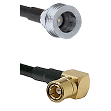 QN Male on RG58C/U to SMB Right Angle Female Cable Assembly