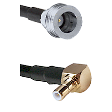 QN Male on RG58C/U to SMB Right Angle Male Cable Assembly