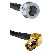 QN Male on RG58C/U to SMC Right Angle Female Cable Assembly