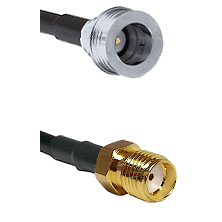 QN Male on RG58C/U to SMA Reverse Thread Female Cable Assembly