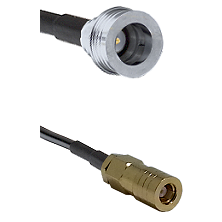 QN Male on RG58C/U to SLB Female Cable Assembly