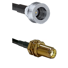 QN Male on RG58C/U to SMA Female Bulkhead Cable Assembly