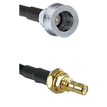 QN Male on RG58C/U to SMB Male Bulkhead Cable Assembly