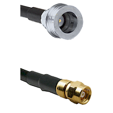 QN Male on RG58C/U to SMC Male Cable Assembly
