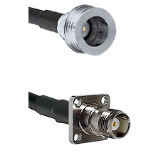 QN Male on RG58C/U to TNC 4 Hole Female Cable Assembly