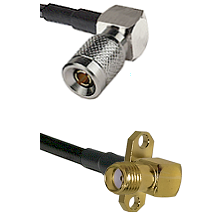 10/23 Right Angle Male on LMR-195-UF UltraFlex to SMA 2 Hole Right Angle Female Coaxial Cable Asse