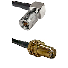 10/23 Right Angle Male on LMR200 UltraFlex to SMA Reverse Polarity Female Bulkhead Coaxial Cable A