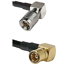 10/23 Right Angle Male on LMR200 UltraFlex to SMB Right Angle Female Cable Assembly