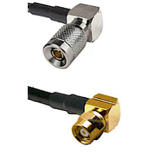 10/23 Right Angle Male on LMR200 UltraFlex to SMC Right Angle Female Cable Assembly