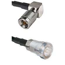 10/23 Right Angle Male on RG142 to 7/16 Din Female Cable Assembly
