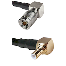 10/23 Right Angle Male on RG142 to SMB Right Angle Male Cable Assembly