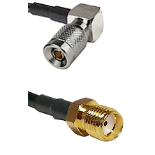10/23 Right Angle Male on RG400 to SMA Reverse Thread Female Cable Assembly