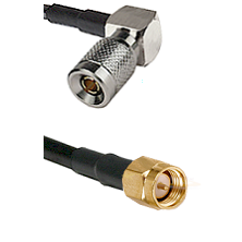 10/23 Right Angle Male on RG400 to SMA Reverse Thread Male Cable Assembly