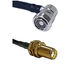 7/16 Din Right Angle Female Connector On LMR-240UF UltraFlex To SMA Female Bulkhead Connector Coaxia