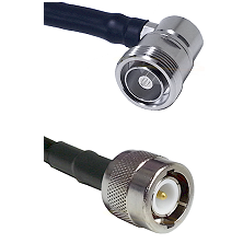 7/16 Din Right Angle Female on RG58C/U to C Male Cable Assembly