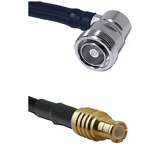 7/16 Din Right Angle Female on RG58C/U to MCX Male Cable Assembly