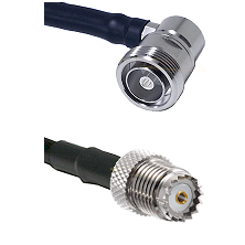 7/16 Din Right Angle Female on RG58 to Mini-UHF Female Cable Assembly
