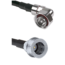 7/16 Din Right Angle Male on LMR-195-UF UltraFlex to QN Male Cable Assembly