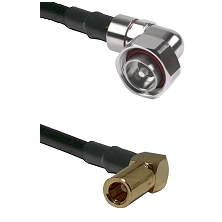 7/16 Din Right Angle Male on LMR195 to SSLB Right Angle Female Cable Assembly