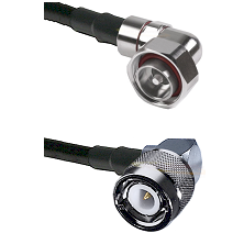 7/16 Din Right Angle Male on LMR200 UltraFlex to C Right Angle Male Cable Assembly
