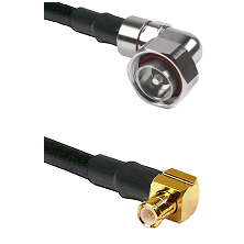 7/16 Din Right Angle Male on LMR200 UltraFlex to MCX Right Angle Male Cable Assembly