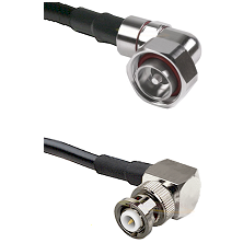 7/16 Din Right Angle Male on LMR200 UltraFlex to MHV Right Angle Male Cable Assembly