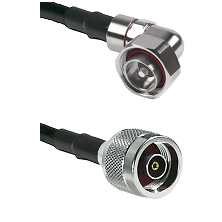 7/16 Din Right Angle Male on LMR200 UltraFlex to N Reverse Polarity Male Cable Assembly