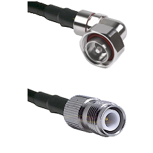 7/16 Din Right Angle Male on LMR200 UltraFlex to TNC Reverse Polarity Female Cable Assembly