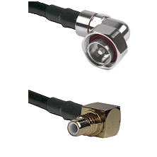 7/16 Din Right Angle Male on LMR200 UltraFlex to SMC Right Angle Male Cable Assembly