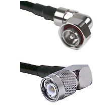 7/16 Din Right Angle Male on LMR200 UltraFlex to TNC Right Angle Male Cable Assembly