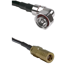 7/16 Din Right Angle Male on LMR200 UltraFlex to SLB Female Cable Assembly