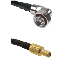 7/16 Din Right Angle Male on LMR200 UltraFlex to SLB Male Cable Assembly