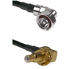 7/16 Din Right Angle Male on LMR200 UltraFlex to SLB Male Bulkhead Cable Assembly
