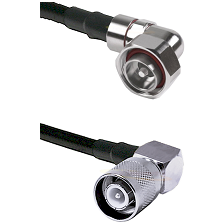 7/16 Din Right Angle Male Connector On LMR-240UF UltraFlex To SC Right Angle Male Connector Coaxial