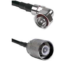 7/16 Din Right Angle Male Connector On LMR-240UF UltraFlex To SC Male Connector Coaxial Cable Assemb