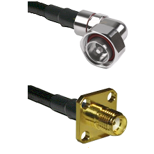 7/16 Din Right Angle Male Connector On LMR-240UF UltraFlex To SMA 4 Hole Female Connector Coaxial Ca