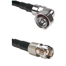 7/16 Din Right Angle Male on LMR240 Ultra Flex to TNC Female Cable Assembly