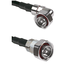 7/16 Din Right Angle Male on RG142 to 7/16 Din Male Cable Assembly