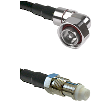 7/16 Din Right Angle Male on RG142 to FME Female Cable Assembly