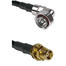 7/16 Din Right Angle Male on RG142 to MCX Female Bulkhead Cable Assembly