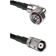 7/16 Din Right Angle Male on RG142 to MHV Female Cable Assembly